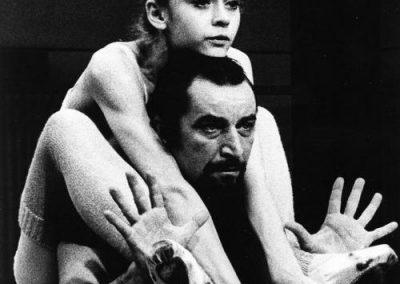 Rita Poelvoorde e Maurice Béjart